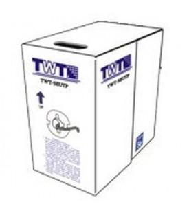 Кабель TWT UTP, 4 пары, Кат.5е, для внешней прокладки, с тросом,  305 метров