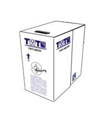 Кабель TWT UTP, патч-кордовый, 4 пары, Кат.5e, PVC, 305 метров, серый