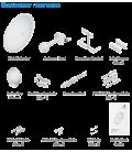 Ubiquiti airFiber 2G24-S45 антенна параболическая пассивная
