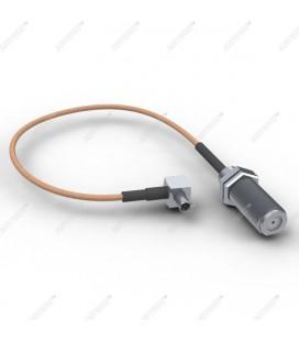 Антенный адаптер для USB 3G/4G модемов Huawei и ZTE (F-female - TS-9 угловой)