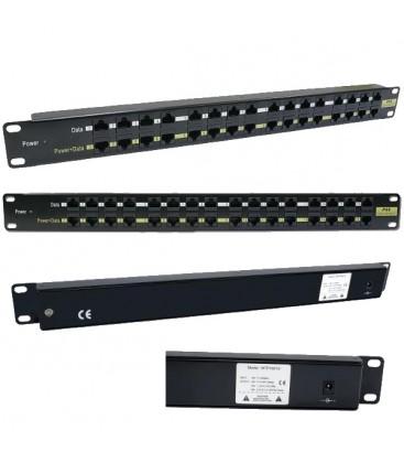 Инжекторная патч-панель PoE 16 портов RJ-45, UTP, кат.5Е