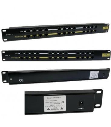 Инжекторная патч-панель PoE, 12 портов RJ-45, UTP, кат.5Е
