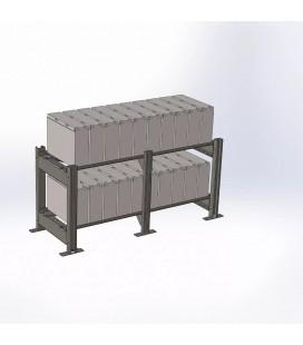 SNR-AKB-RACK-130605 Стеллаж открытый АКБ 600х500х1325 (2 полки)