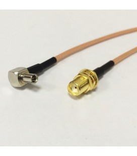 Антенный адаптер для USB 3G модемов Huawei (SMA-female - TS-9 (угловой))